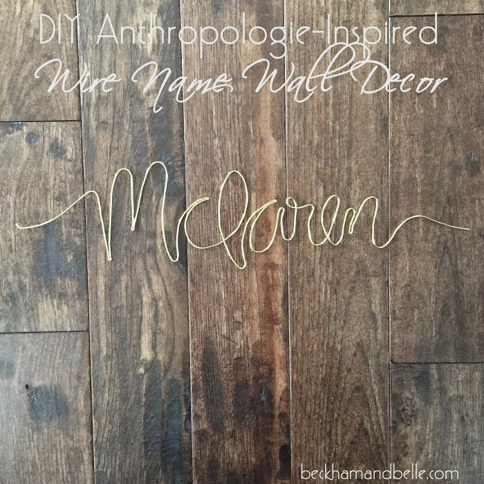 Diy Anthropologie Wall Decor : Ideas about name wall decor on