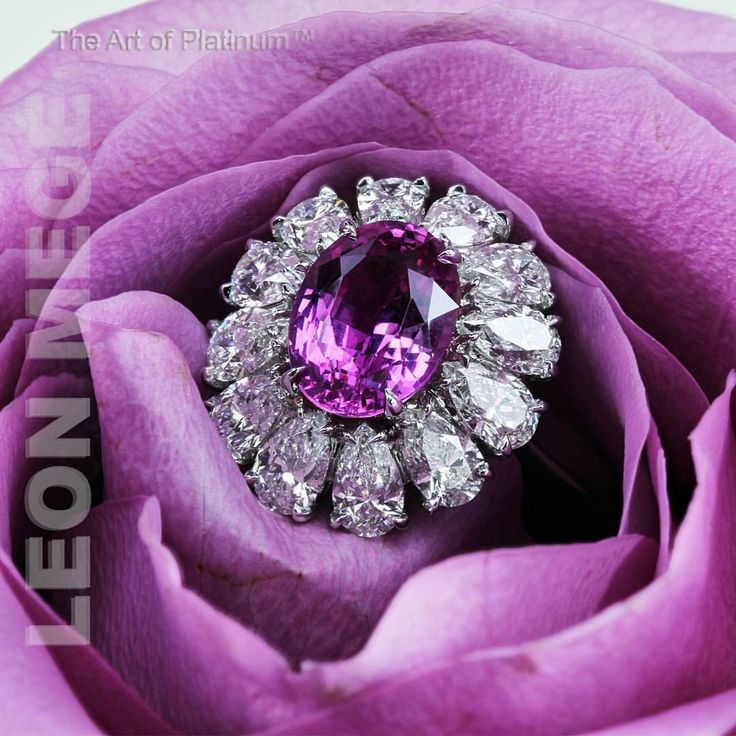 Leon Megé (@leonmege) on Instagram: Eye-catching custom made couture ring featuring marvelous pink sapphire. #leonmegejewelry #LeonMege