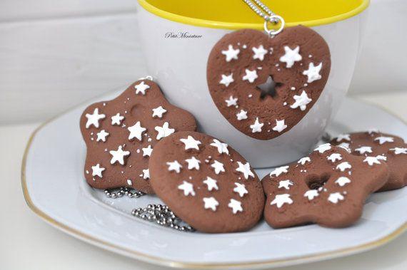 Collana Fimo Biscotto  Biscotto Colazione in di PetitMiniatures