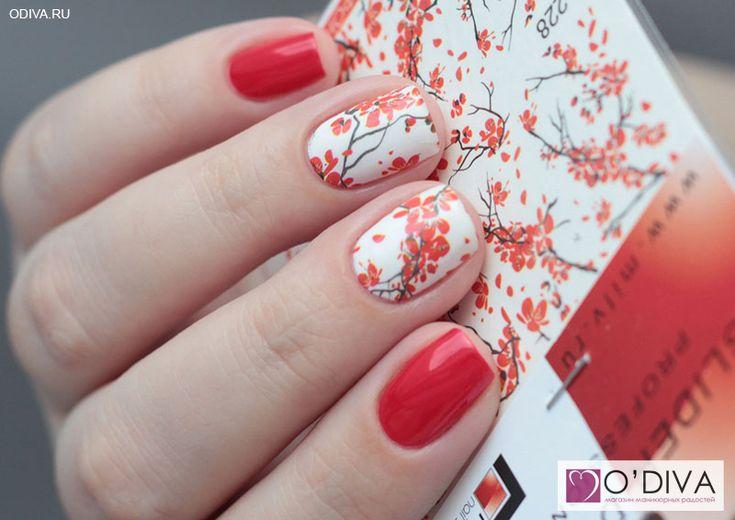 """Milv, слайдер-дизайн """"Китайские мотивы N228"""" http://odiva.ru/~OeTyZ Milv, лак для ногтей, глянцевый (красный №43) http://odiva.ru/~MZ0UN  #milv #милв #водныенаклейки #наклейкидляногтей #слайдердизайн #наклейкинаногти #дизайнногтей #ногти #идеиманикюра #маникюр"""