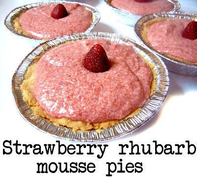 Strawberry Rhubarb Mousse Pie from Derek's Kitchen