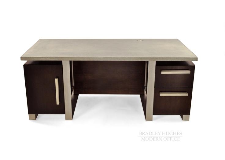 Concrete Top Vanity Desk : Best images about bradley tables consoles desks on
