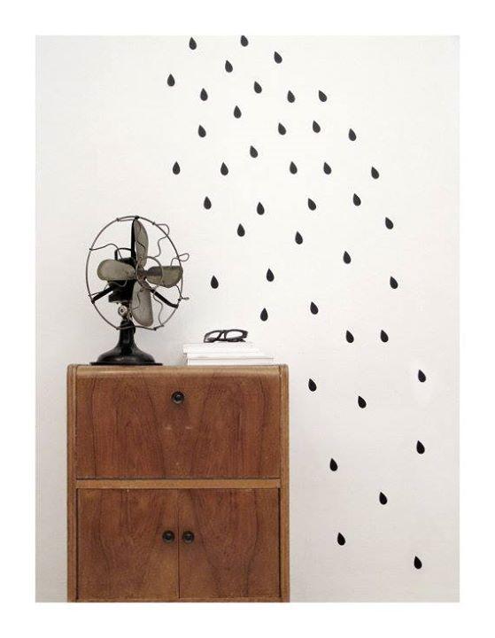 Fabulous Schwarze Tropfen Wandaufkleber von Tayo Studio Preis uac plus