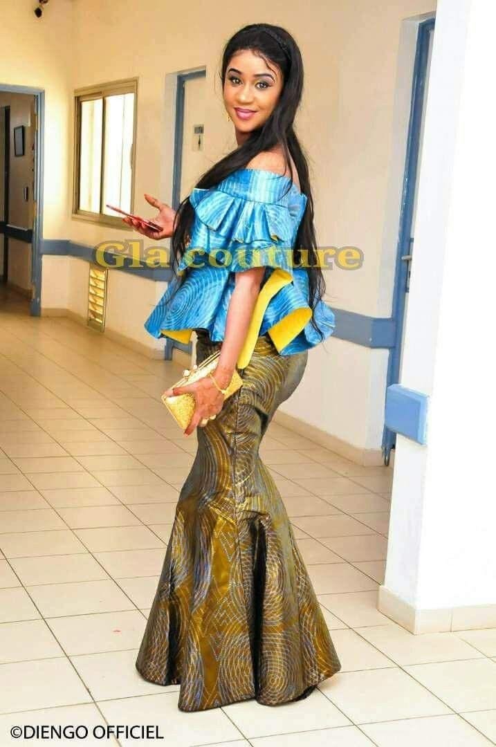 Mode Senegalaise, Femme Senegalaise, Tenues Africaines, Taille Basse, Robe  En Pagne Africain. Visiter. février 2019