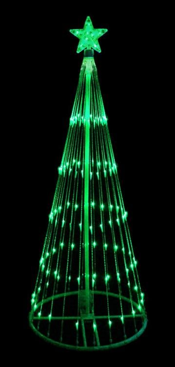 12 green led light show cone christmas tree lighted yard art decoration - 12 Volt Led Christmas Lights