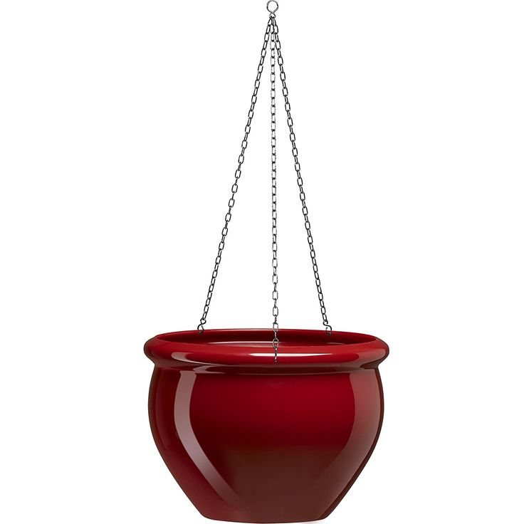 Emsa 508684 SIENA NOBILE hanging planter, ø 26 x 19 cm, ruby red ** Click image to read more details. #GardenDecor