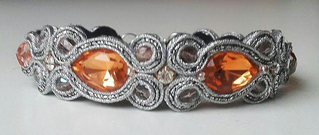 biżuteria soutache, haft koralikowy, torby z filcu: Bransoletka