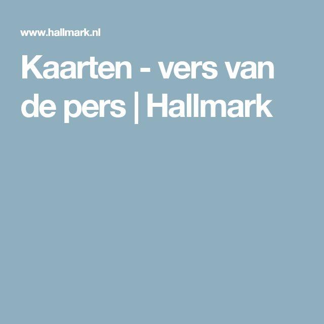 Kaarten - vers van de pers   Hallmark