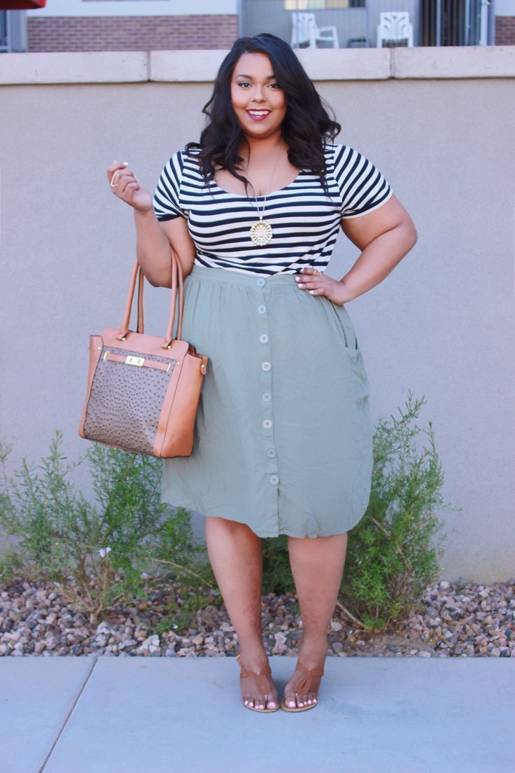 awesome Stripes and Buttons by http://www.globalfashionista.xyz/plus-size-fashion/stripes-and-buttons/