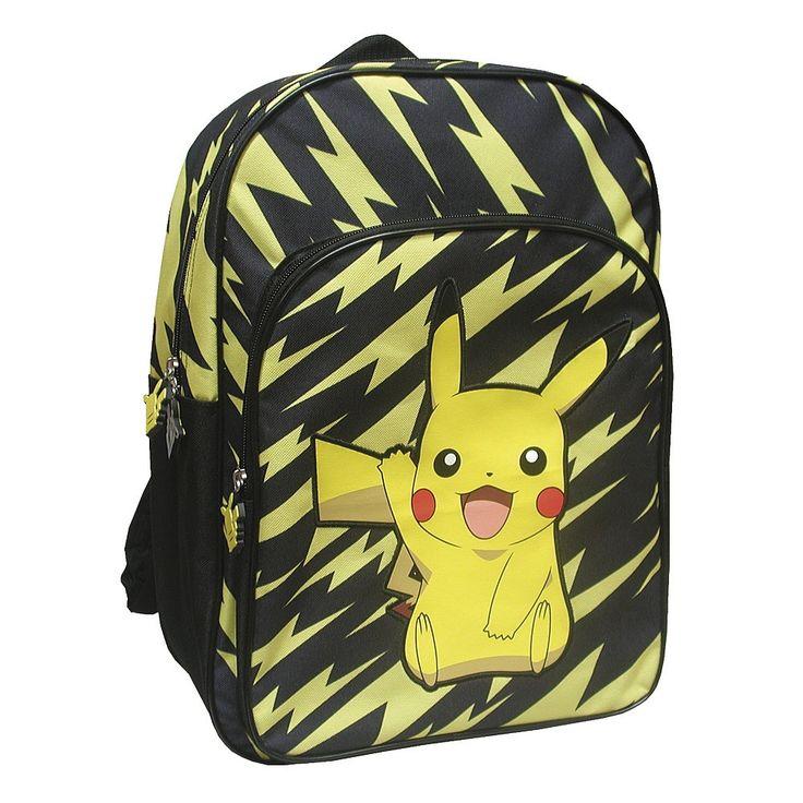Pikachu te acompañará a todos los lados con tu mochila Pokémon.
