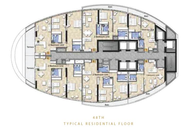 The Distinction Floor Plans - Downtown Burj Area Dubai
