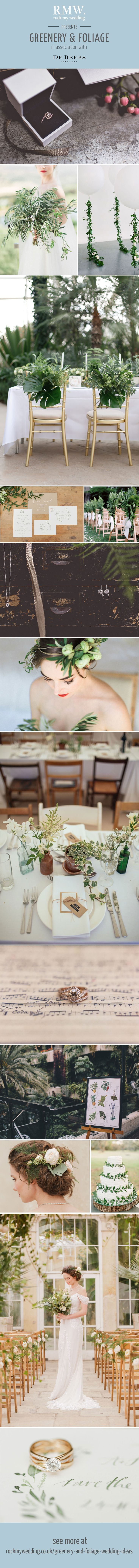 Greenery & Foliage Wedding Decor | Wedding Ideas | Wedding inspiration | http://www.rockmywedding.co.uk/greenery-and-foliage-wedding-ideas/