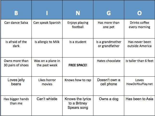 17 best ideas about people bingo on pinterest find for Ice breaker bingo template