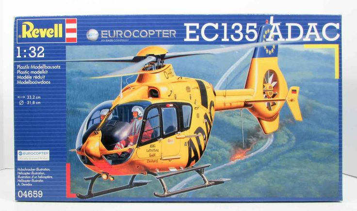 Eurocopter EC135 ADAC Revell 04659 1/32 Helicopter Model Kit - Shore Line Hobby