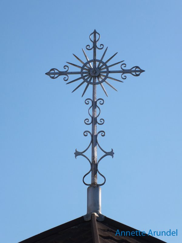 Cross on the Mission Convent in Nelson...