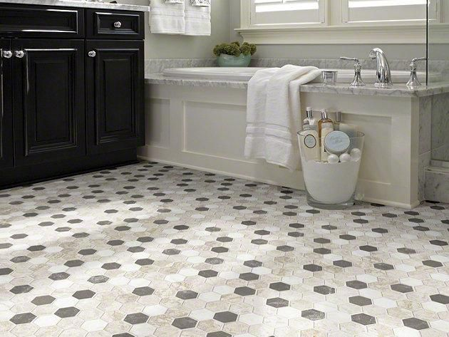 44 Best Flooring Images On Pinterest  Flooring Home Ideas And Cool Black And White Mosaic Tile Bathroom Design Decoration