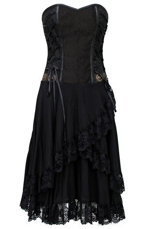 Brocade/Viscose Layered Corset Dress