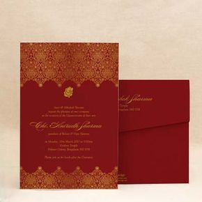 golden paisley red thread ceremony invitation cards e card designs buy golden paisley