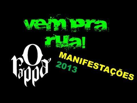 Vem Pra Rua - O Rappa (Manifestações 2013)   Vem pra rua porque na rua tem a maior manifestação do Brasil!  - YouTube #vemprarua #semviolencia