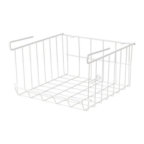 OBSERVATÖR クリップオンバスケット IKEA さらに収納を増やしたい場合は、上下に重ねて使えます。棚に取り付けても、そのままデスクの上などに置いても使えます