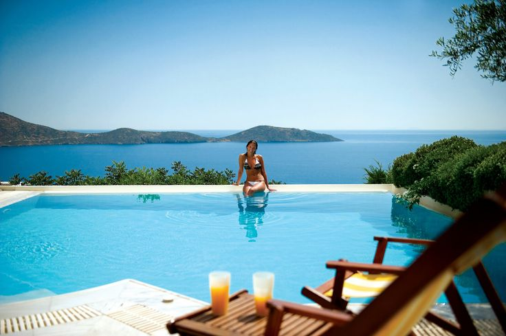 Swimming pool at Elounda Gulf Villas #summerholidays #Crete