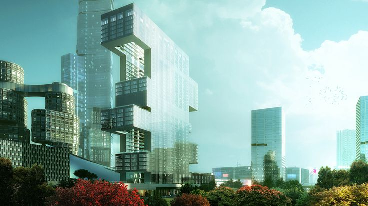 The Yongsan Tower contains 47,800 m² (514,500 sf) of luxury housing for  short-term residents, 27,000 m² (290,600 sf) of retail, and 929 parking  stalls.