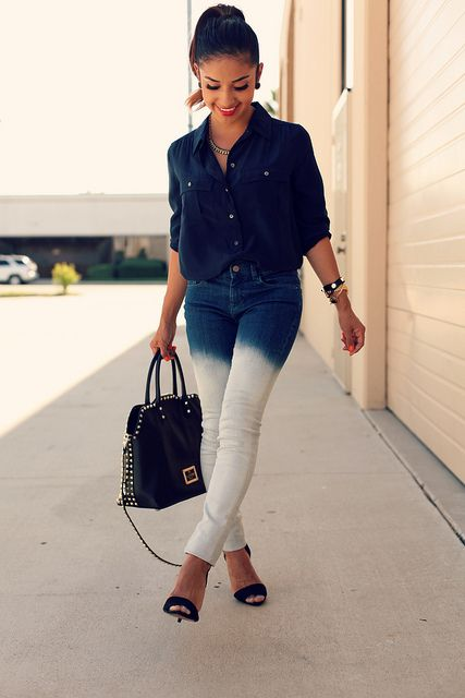 ombre jeans <3