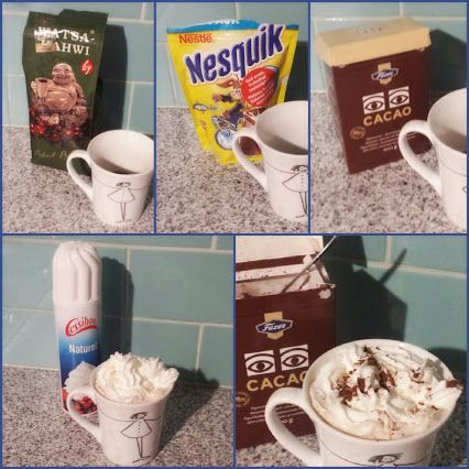 How I make my #hot #cocoacoffee ;) This is so perfect on #rainydays. Sataa sataa ropisee Pili-Pili-POM! #hotdrinks #cocoa #cacao #coffee #whippedcream #tgif #stepbystep