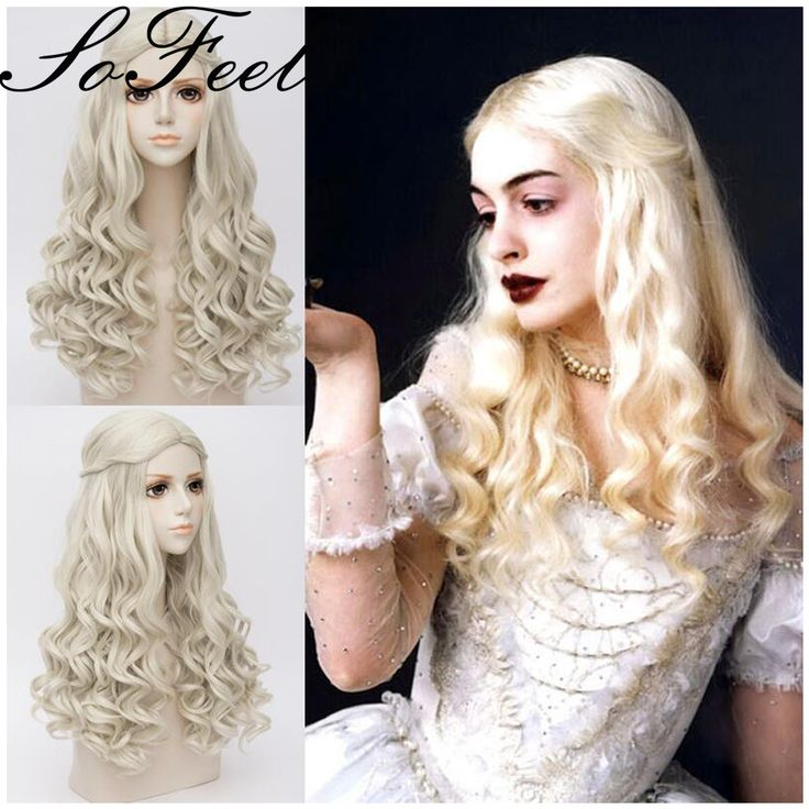 Sofeel synthetic wigs Alice in Wonderland The White Queen women long blonde curly hair peruca sintetica ladies wigs * You can get additional details at the image link.