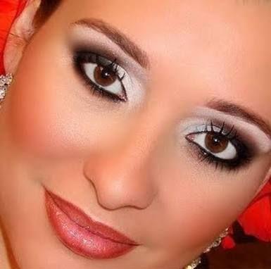 Resultado de imagem para maquiagem festa roupa vermelha