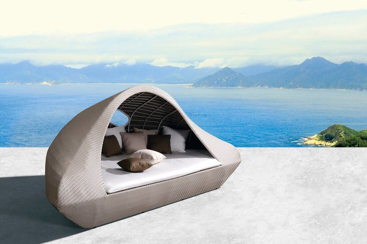 Island - meble ogrodowe z technorattanu łoże leżanka - Twoja Siesta