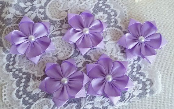 Groom wedding boutonniere light purple fabric by Rocreanique