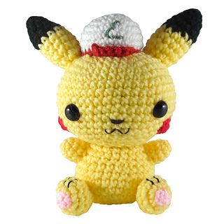 Pikachu with Ash Hat free pattern by i crochet things