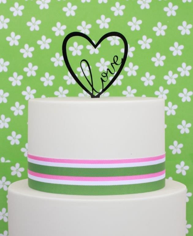 Love Cake Topper Apply for a wholesale account at http://www.bakegroup.com/pages.php?pageid=7