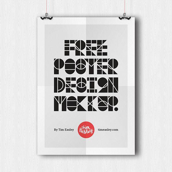 Free Poster Design Mockup PSD