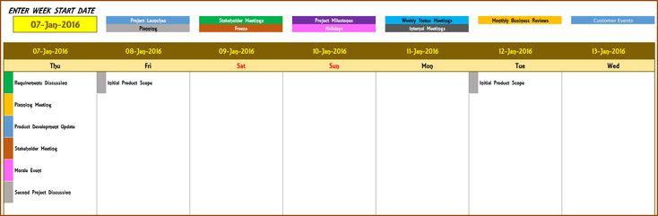 2016 Yearly Calendar Event Calendar Maker Excel Template Event