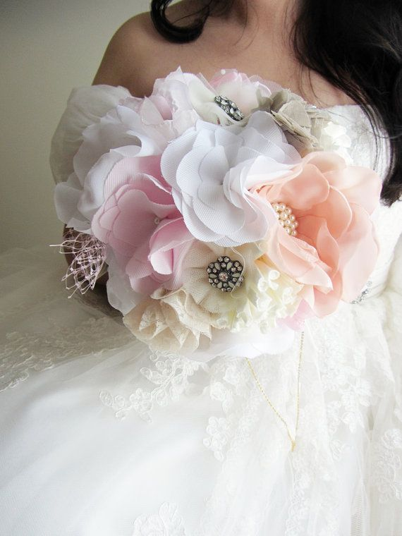 20 Best Images About Fabric Flower Amp Brooch Bouquets On Pinterest