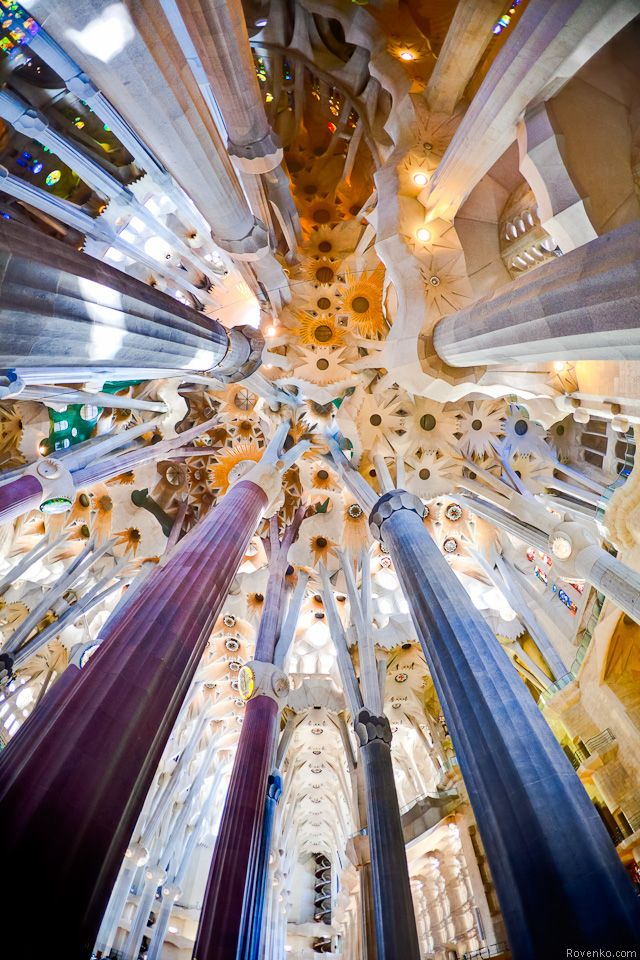 The Sagrada Familia interior.  I will go here someday.