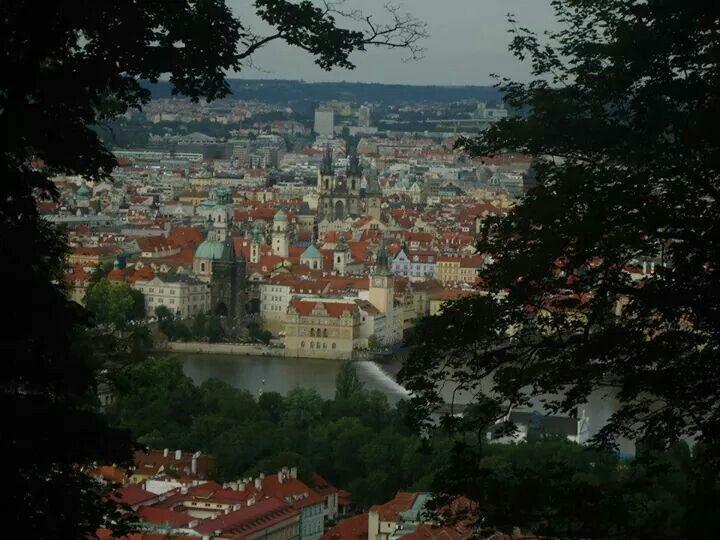Vista de Praga desde el Petrin