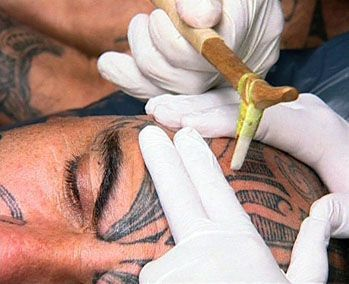 Ta moko, often referred to as Maori tattoo, is the traditional permanent marking of the body and face by Maori. But ta moko is distinct from tattoo in that the skin is carved by uhi (chisels) instead of being punctured with needles. This leaves the skin with textured grooves, rather than the smooth surface of a normal tattoo. #maoritattoosface