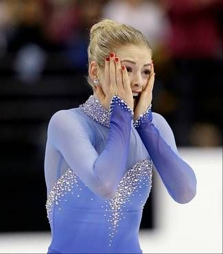 Gracie Gold of the U.S. After long program!!!