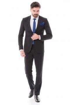 Toss Erkek Slim Fit 6 Drop Klasik Takım Elbise - Siyah