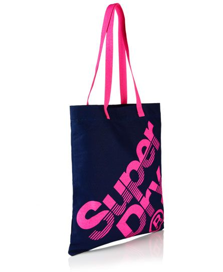 Superdry Calico Tote Bag Navy