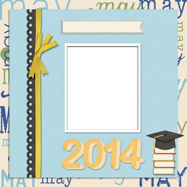 May Graduation 2014 QP Freebie - KittenScraps & Friends Forum, created using the This Year Boy-May Kit created by KittenScraps