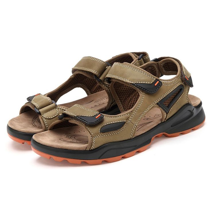 New Men's Sandals Outdoor Sports Slippers Flat Casual Beach Shoes Plus Size