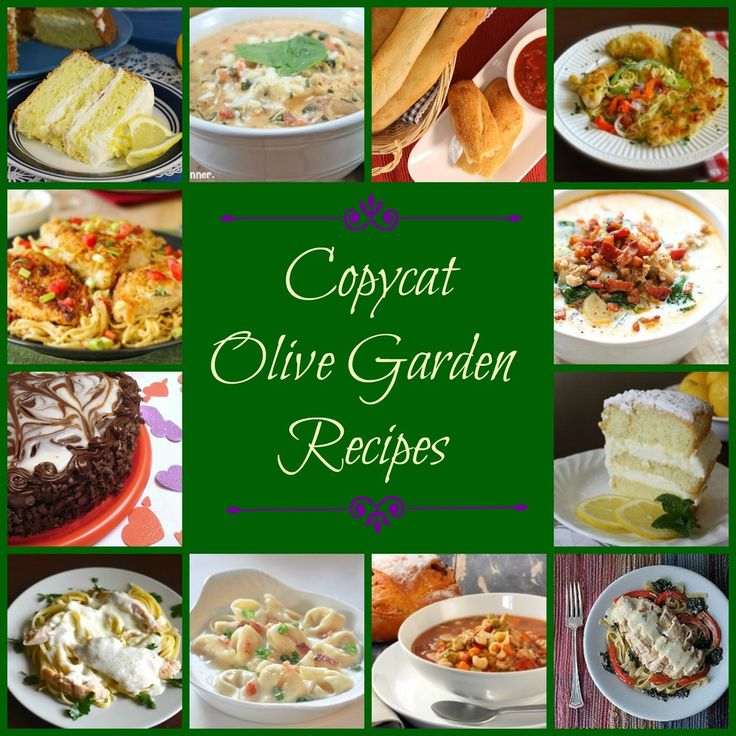 Make Your Own Olive Garden Menu: 50 Olive Garden Copycat Recipes | AllFreeCopycatRecipes.com