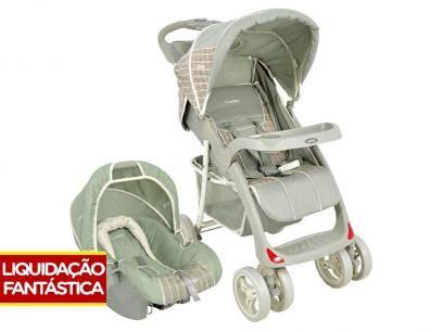 Carrinho de Bebê Passeio Lenox Kiddo Lisboa - Reclinável 3 Posições + Bebê Conforto Lenox Kiddo com as melhores condições você encontra no Magazine Powerfeliz2017. Confira!