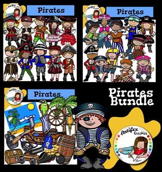 Pirates Clip Art Bundle includes these 3 packs:The Following Included Sets Are Also Sold Seperately:  Pirates Clip Art 1 Pirates Clip Art 2  Pirates Clip Art 3 If you have purchased one or more of these sets, PLEASE don't purchase the bundle. They can be purchased individually in my store as well.