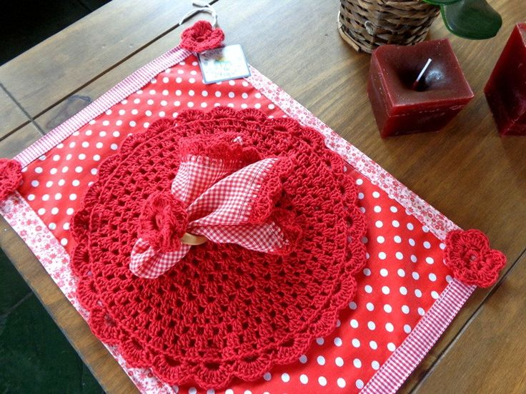 276 best jogos americanos crochet e mais images on - Set de table crochet ...