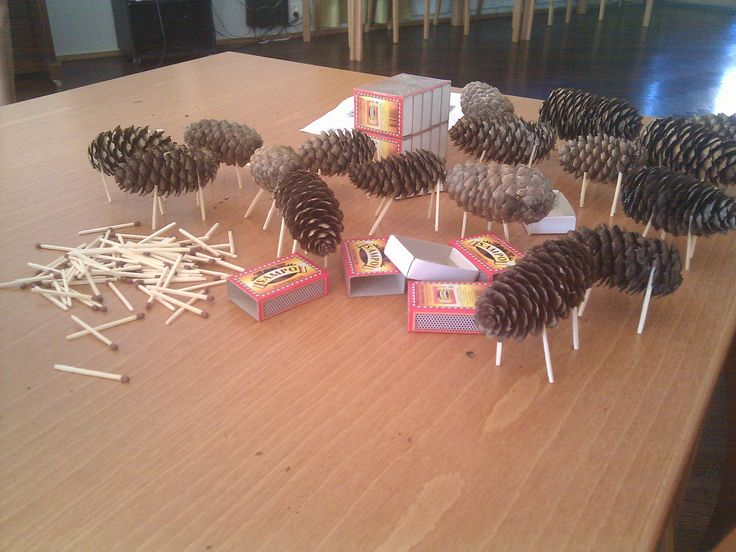 Making spruce cone cows for decoration | by Miia Sample